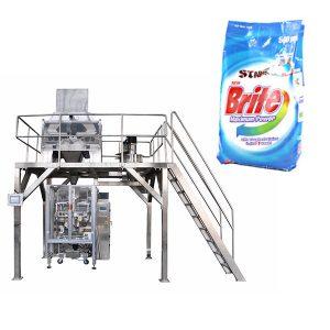 4 मुख्य रेषीय वजनाचे डिटर्जेंट वॉशिंग पाउडर पॅकिंग मशीन