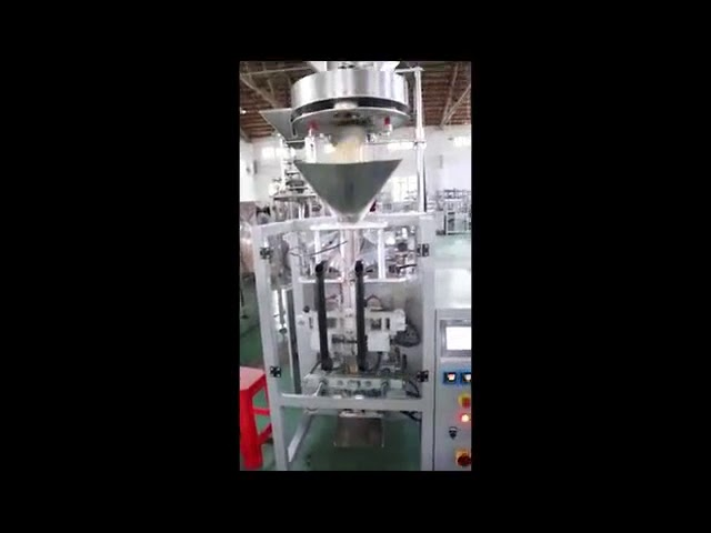 Dosing By Volumetric Filler Cups Lentils Rice Sugar Packing Machine Vertical Form Fill Seal Machine