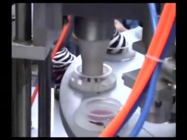 Polavtomatski mini polnilni stroj za polnjenje in zapiranje sladoleda