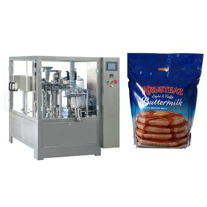 stand-up kremailera premade pouch packing machine