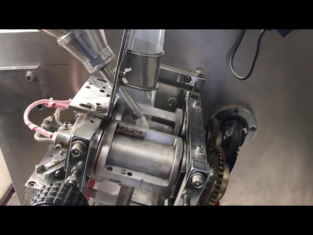 PLC control horizontal twin sachet powder packing machine